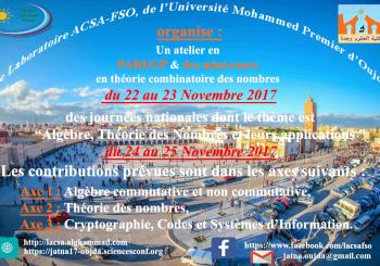 Deuxièmes journées : Algébre, Théorie des Nombres et leurs Applications (2017)